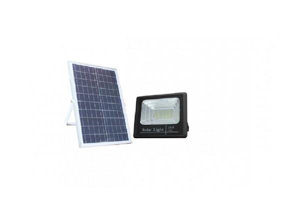 LED SOLAR FLOOD LIGHT 100W แบบแยกแผงโซล่า พร้อมเซ็นเซอร์และรีโมทคอนโทรล