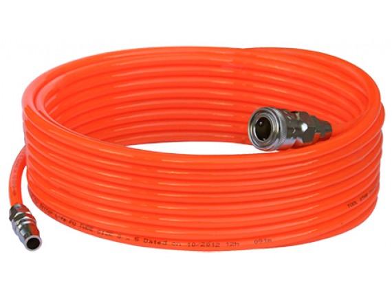 สายลมม้วน PU ขนาด 5x8 (15 เมตร) สีส้ม