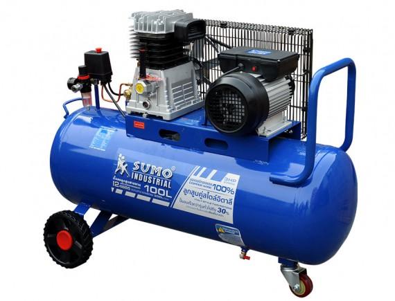 ปั๊มลมลูกสูบสายพาน 3.0HP (100L) รุ่น I24670 SUMO