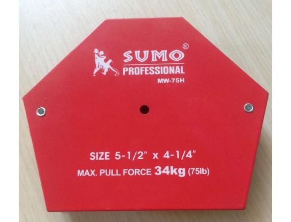 """แม่เหล็กฉาก 6 เหลี่ยม ขนาด 5 1/2"""" x 4 1/4"""" รุ่น MW-75H SUMO"""