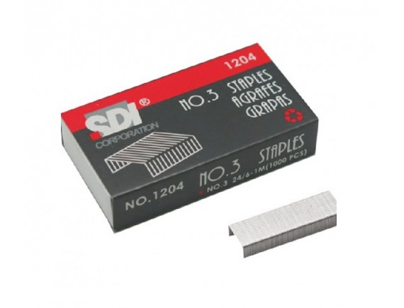 ลวดเย็บกระดาษ SDI 1204 (No.3) 6 กล่อง
