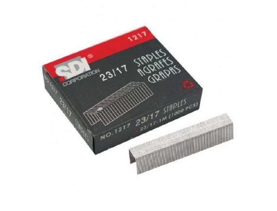 ลวดเย็บกระดาษ SDI 1217 (No.23/17) 6 กล่อง