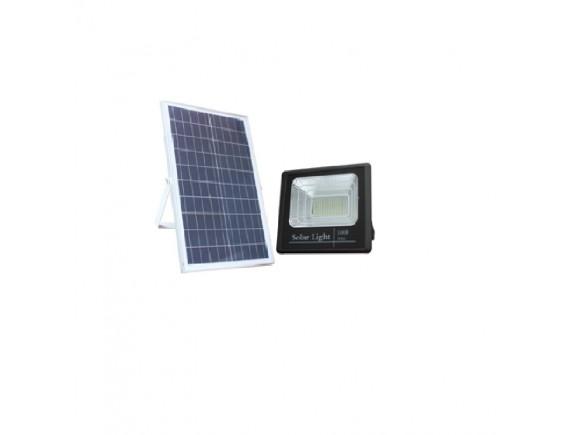 LED SOLAR FLOOD LIGHT 40W โคมไฟส่องบริเวณโซล่า แบบแยกแผงโซล่า พร้อมเซนเซอร์และรีโมทคอนโทรล